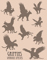 Vector Griffin Silhouettes by kookybat