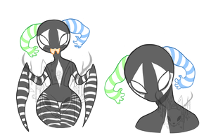 Striped Alien - Adopt Auction [SOLD] by OperaHouseGhost