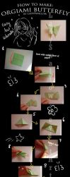 Origami butterfly-step by step by LadySwallow