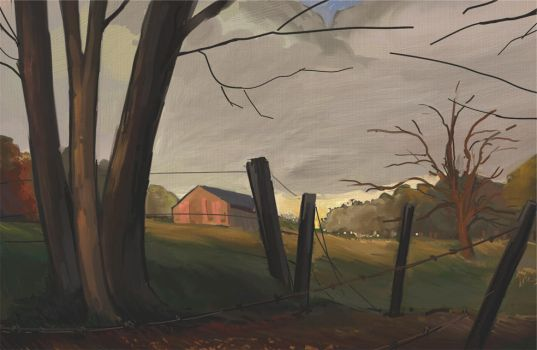 another fall painting by Hungry-Porkins