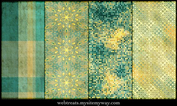Grungy Festive Patterns Part 2 by WebTreatsETC