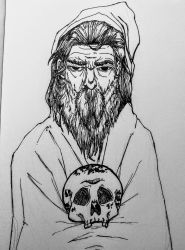 A Terrible Wizard by skullzhead