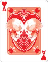 Skulled Ace of Hearts by crackmatrix