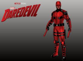 Netflix Original Series: Marvel's Daredevil Suit by johnarmstrong17