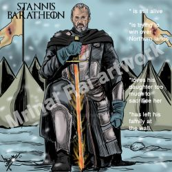 Stannis Baratheon in the North by mrinal-rai