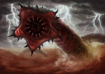 June:  The Mongolian Death Worm by pyro-helfier