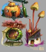 Fairy Houses concepts by ArainMorn