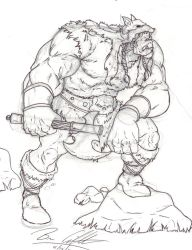 Orc Barbarian by UncannyBruceman