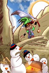 Pirate vs Tropical Snowmen by blackbeardpirate