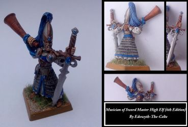 Musician of Sword Master High Elf (6th Edition) by Edowyth-The-celte
