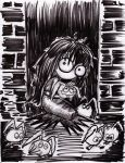 Soot girl and the dust Bunnies 2014 by myconius