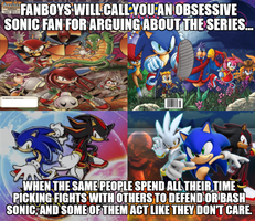 Obssessive Sonic fans by Psyco-The-Frog