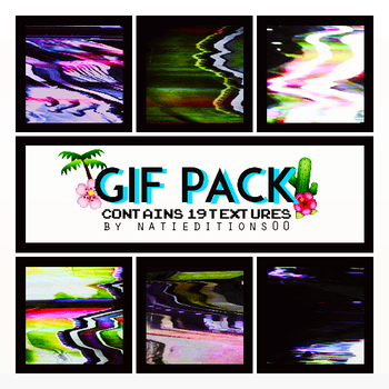 + Gif Pack  Textures  19  by natieditions00