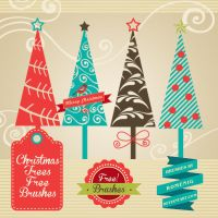 CHRISTMAS TREES FREE BRUSH SET by Romenig
