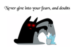 Never Give In - Fear and Doubt - Illustration by lyssagal