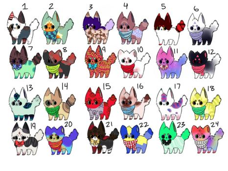 Adopts 5 points *open* by softpuppies