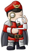 M. Bison Chibi by RedPawDesigns