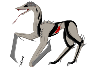 The missionary creature. The silent hill. by Redfiredark