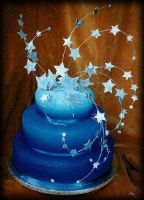 Starry Blue Cake by xXx--Kawaii--xXx