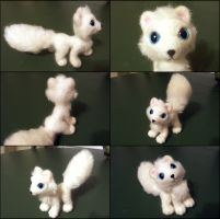 Needle felted posable arctic fox by SnowFox102