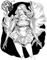 Grayscale Supergirl by mysteryming