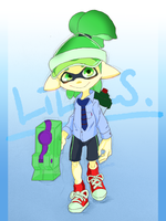 splatoon:my character by ryo-senba