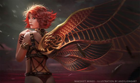 Red Fairy_Wings series by andyliongart