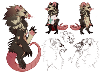 [Commish] Design for Densy!! by were--beast