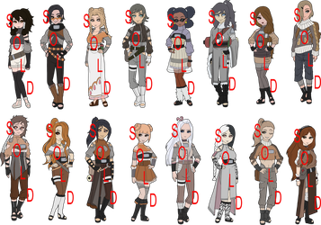 Dog Breed Themed Naruto Collab Adoptables - SOLD by mistressmaxwell