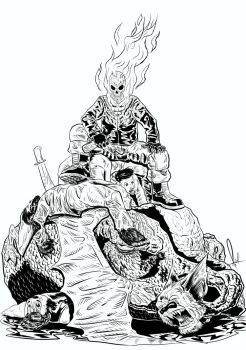 Ghost Rider Hail To The King by azzh316