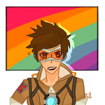 Overwatch:Tracer /Cheers Love!The Cavalry's Queer/ by united-drawer