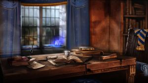 Pottermore Background: Ravenclaw Common Room 1 by xxtayce