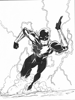 Dark Flash Commission WIP by MentalPablum