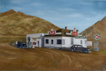 G. E. Kendell Store - Painting by nicoletaggart