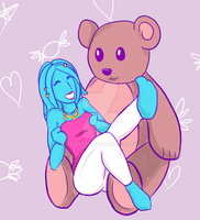 Geri and her bear by Zerenitia