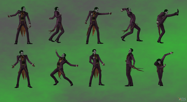 Joker Injustice poses by Gizmochillin