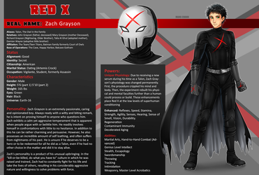 Character Sheet Commission: Red X by manu-chann
