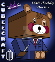 10th Doctor cubeecraft Teddy Bear Doctor Who 3D by SKGaleana