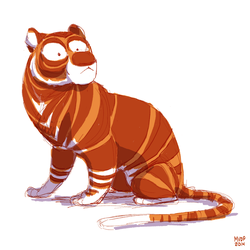 Tiger Sketch by sketchinthoughts