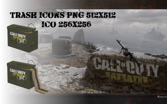 Trash Icons Call of Duty WW2 PNG ICO by favorisxp