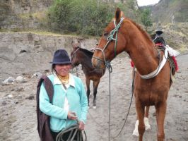 Woman with Horses 1 by hotmetal53