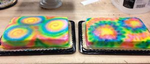 Two Tie-dyed Cakes, Side By Side by LucyQ602