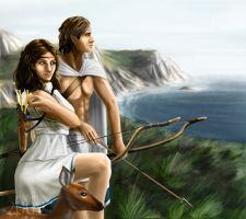 Artemis and Apollo 2 by FedeSchroe