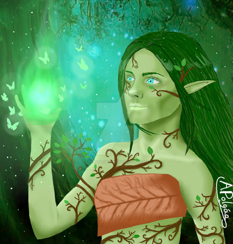 [Art Trade] Maroliss the Elf by SaintGlinglin