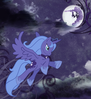 Lonely Luna by smashingsaturnine