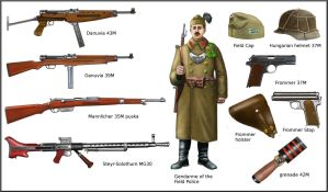 ww2  Hungarian weapon and equipment by AndreaSilva60