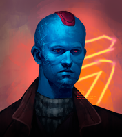 Young Yondu by Psycho-o-Aciid