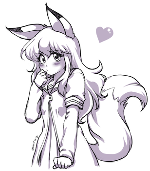 Points Commission: Youko Inari the fox girl by Rolly-Chan