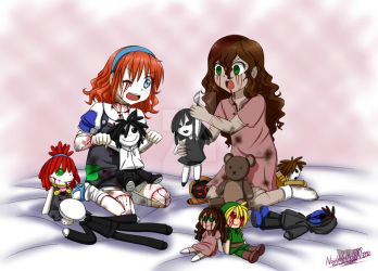 -AT- Sally and Lily plays dolls by NaughtyKittyDV-1992