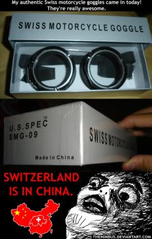 Odd Swiss Motorcycle Goggles by TheNimbus
